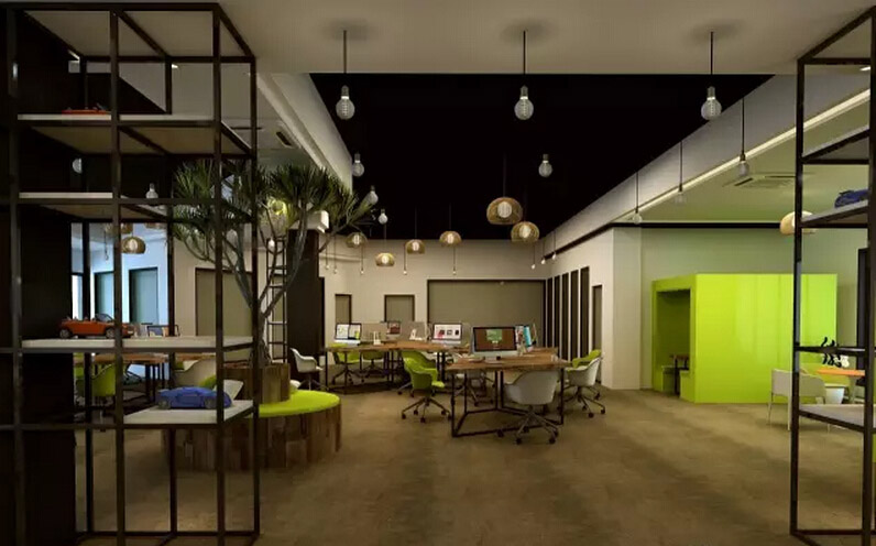 网络公司办公室通常都是年轻人IT人员聚集的地方,所以装修以清新明亮为主,凸显年轻人的朝气蓬勃的活力与创造力!  合理的办公区域规划,以及人性化的功能设计。可以充分发挥空间功能,有效的提高空间使用者的办公效率,并彰显企业的文化内涵。  在本案设计规划中自始至终遵循实用、功能需求和人性化管理充分结合的原则。