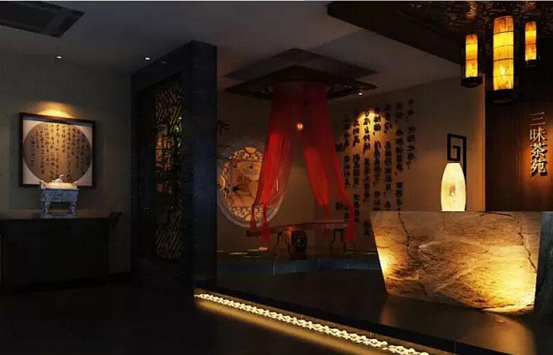 中式茶louzhuangxiuxiao果图