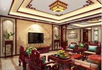 山东济南现代中式风格别墅装修实例