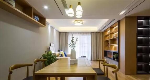 三居室112平米现代木色三室2