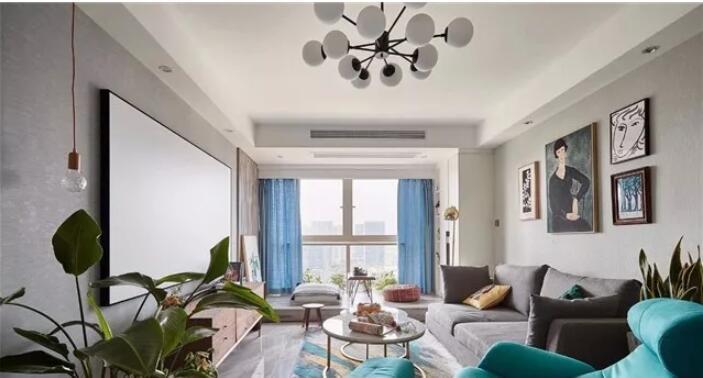 两居室85平米北欧风格装修案例效果1