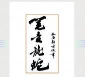 笔走龙蛇的意思,出自李白的《草书歌行》