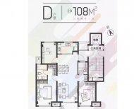 这个户型三室两厅一卫怎么装修设计,108平米